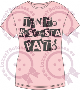 Vinilo Textil - TENGO RESPUESTA PA'TÓ
