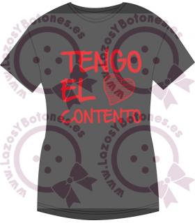 Vinilo Textil - TENGO EL CORAZÓN CONTENTO
