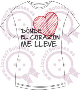 Vinilo Textil - DÓNDE EL CORAZÓN ME LLEVE