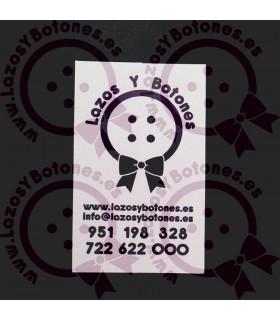 TARJETAS DE VISITA 80*50mm - 20U - MOD. RECTANGULAR VERTICAL