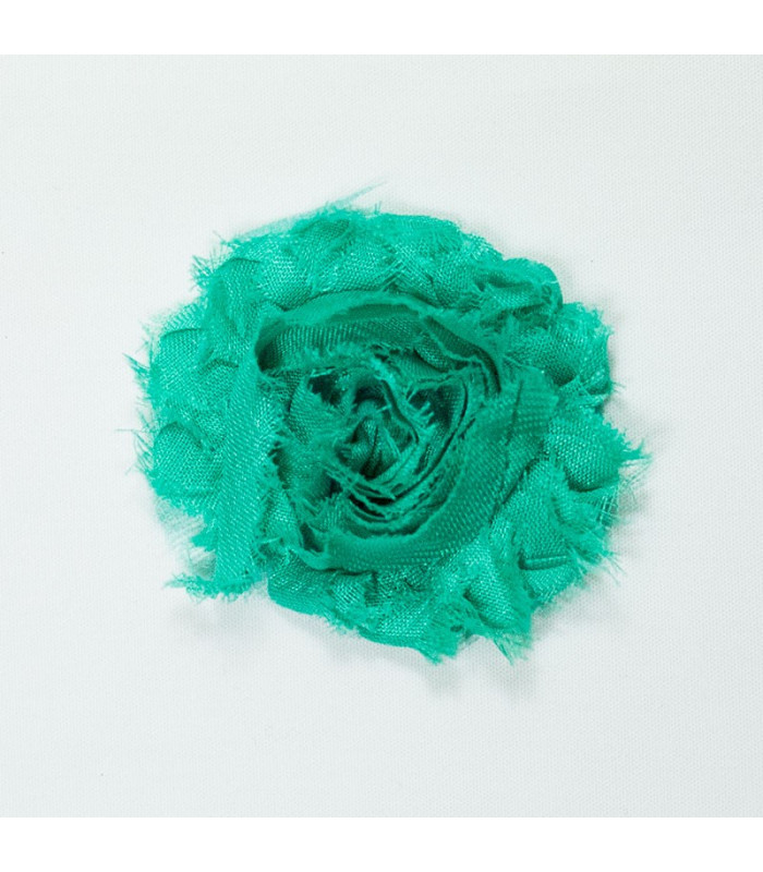 Flor de tul VERDE LORO 60mm