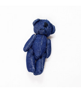 MINI OSO PELUCHE DENIM 6CMS