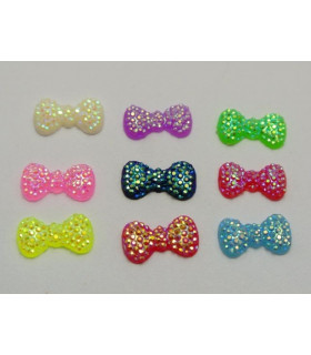 PACK DE 12 MINI LACITOS STRASS 13*7MM