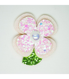 PACK 2 FLORES GLITTER 60*52mm
