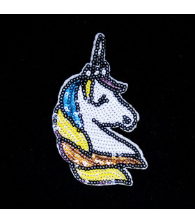 Parche BORDADO UNICORNIO LENTEJUELAS 105*60mm