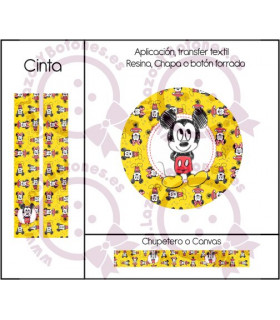 MINNIE & MICKEY CUTE - DISEÑO AMARILLO 1