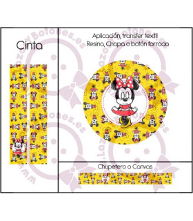 MINNIE & MICKEY CUTE - DISEÑO AMARILLO 2