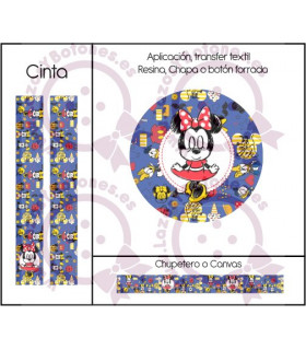 MINNIE & MICKEY CUTE - DISEÑO AZUL 3