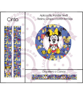 MINNIE & MICKEY CUTE - DISEÑO AZUL 4