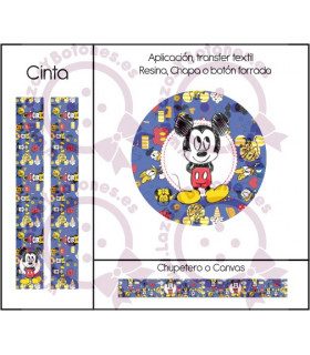 MINNIE & MICKEY CUTE - DISEÑO AZUL 5