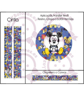 MINNIE & MICKEY CUTE - DISEÑO AZUL 6