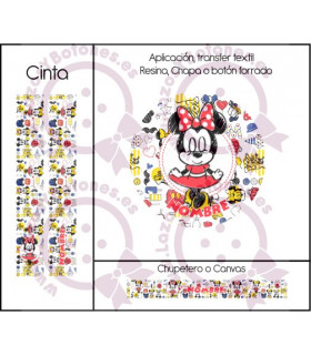 MINNIE & MICKEY CUTE - DISEÑO BLANCO 3