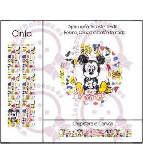 MINNIE & MICKEY CUTE - DISEÑO BLANCO 6