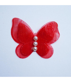PACK DE 2 MARIPOSAS CON PERLITAS 30mm - VARIOS COLORES
