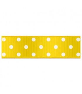 Lunares grandes amarillo/blanco 22mm