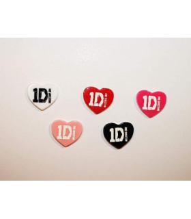 Corazón One Direction 27x27mm Varios colores