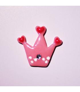 Corona Rosa Corazón 25x22mm