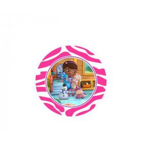 Dra. Juguetes Logo Zebra Fucsia