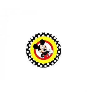 Mickey Lunares Negros Orla Roja
