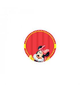 Minnie Enamorada Fondo Rojo