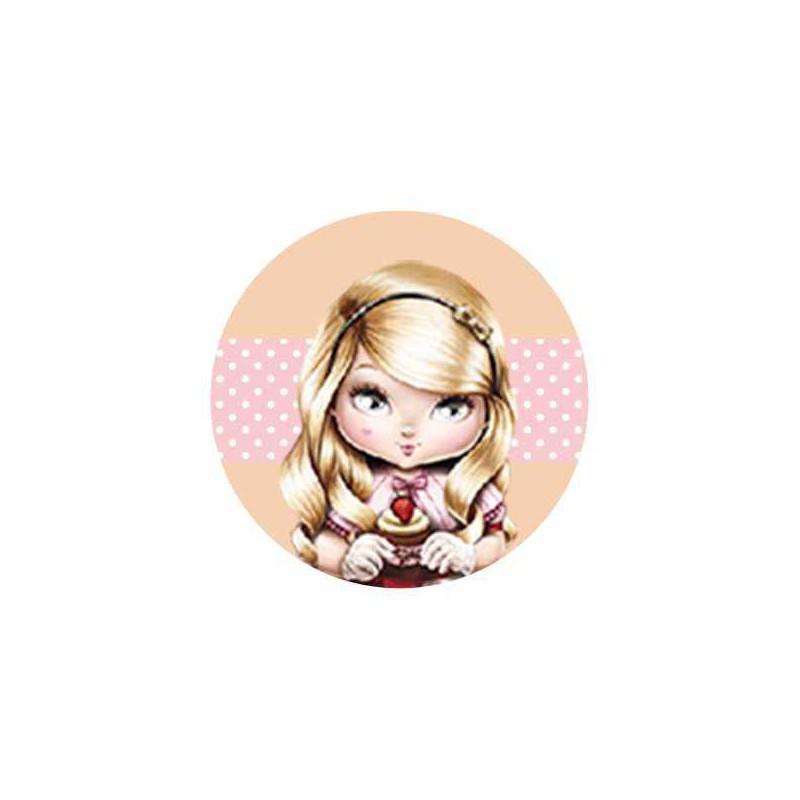 Jolie rubia cupcake con fondo chapa personalizada - Jolie cupcake ...