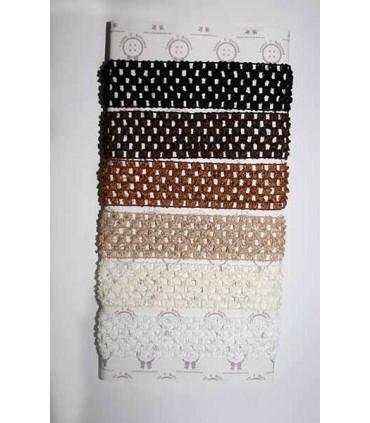 Diadema crochet 38mm