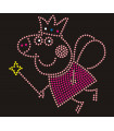 Blancanieves Transfer de strass 15*15cms