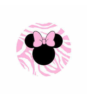 Minnie Zebra Rosa