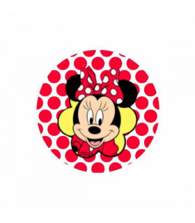Minnie Cara Lunares Rojo