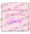 MANTA MINKY BORDADA FRASE PERSONALIZADA - Varios colores
