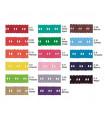 Pasacintas bordado 27mm - varios colores